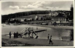 Ak Brunn Auerbach im Vogtland Sachsen, Waldbad, Freibad