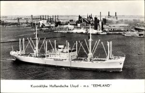 Ak Königlich Holländischer Lloyd, KHL, Dampfer M.S. Eemland, Frachtschiff