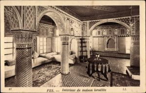 Ak Fès Fez Marokko, Interieur, Salon de reception ...
