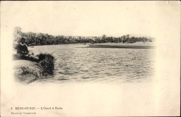 Ak Beni Ounif Algerien, L'Oued à Tarla, Flusspartie, Palmen