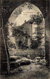 Ak Weischlitz im Vogtland, Ruine Burgstein, Inneres