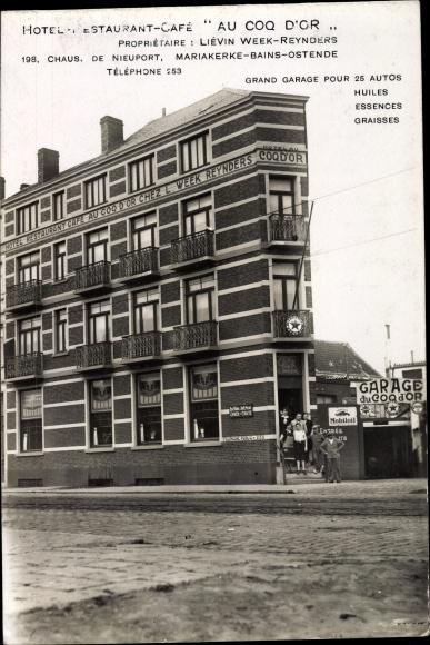 Ak Mariakerke Gent Ostflandern, Hotel Restaurant Café Au Coq d'Or, Inh. Levin Week Reynders