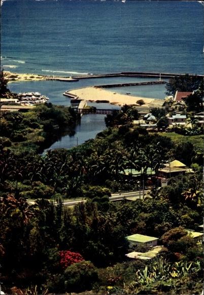 Ak Saint Gilles les Bains La Reunion, Le port de plaisance, Hafen
