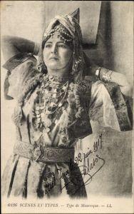 Ak Tunesien, Scènes et Types, Type de Mauresque, Junge Maurin, Portrait