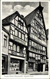 Ak Bad Münstereifel in Nordrhein Westfalen, Seitenblick auf Windeck Haus, Fachwerkbau