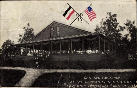 Ak Kalifornien USA, Dancing Pavillon at the German Club grounds, Souvenir German Day 1908