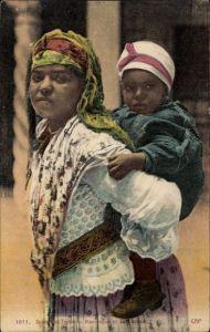 Ak Scènes et Types, Mauresque et son enfant, Maurin mit ihrem Kind