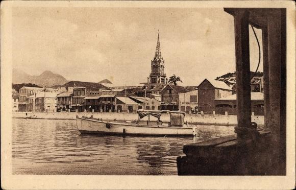 Ak Fort de France Martinique, Vue de la Rade, Hafenpartie