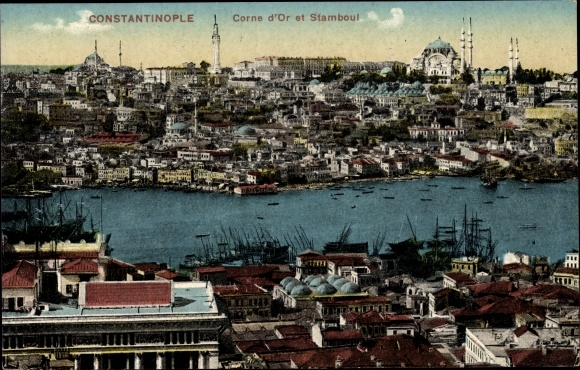 Ak Konstantinopel Istanbul Türkei, Corne d'Or et Stamboul