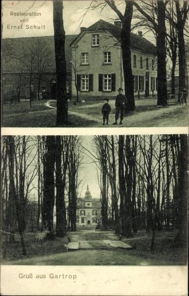 Ak Gartrop Bühl Hünxe NRW, Restauration Ernst Schult, Schloss