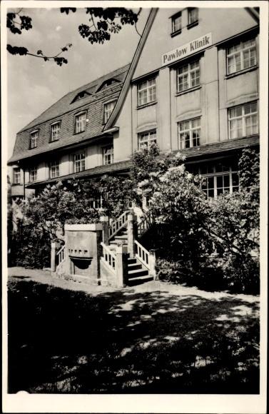Foto Ak Augustusburg im Erzgebirge, Ansicht der Pawlow Klinik