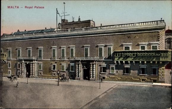 Ak Malta, Royal Palace, Blick auf den königlichen Palast