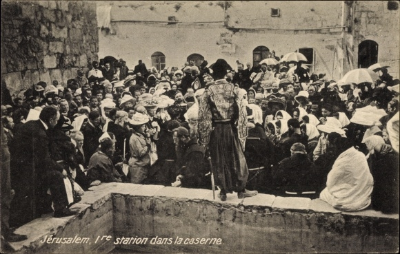 Ak Jerusalem Israel, Ire station dans la caserne, Pilgerfahrt