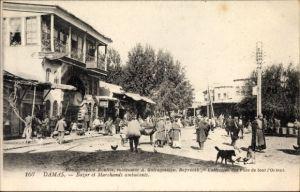 Ak Damaskus Syrien, Bazar et Marchands ambulants, Basar, Markt