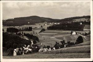 Ak Vogelsgrün Auerbach im Vogtland, Panorama vom Ort