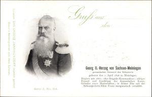 Ak Herzog Georg II. von Sachsen Meiningen, General der Infanterie