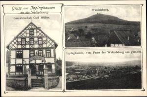 Ak Ippinghausen Wolfhagen in Nordhessen, Gastwirtschaft Carl Müller, Weidelsburg