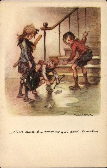 Künstler Ak Poulbot, Francisque, C'est ceux du premier qui sont.., Kinder