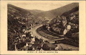 Ak Altena im Märkischen Kreis, Blick vom Iserlohner Weg auf die Stadt