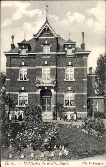 Ak Silly Wallonien Hennegau, Habitation du notaire Binot