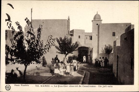 Ak Marokko, Le Quartier réservé de Casablanca, Un joli coin