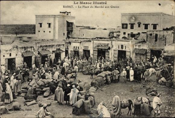 Ak Rabat Marokko, La Place du Marché aux Grains