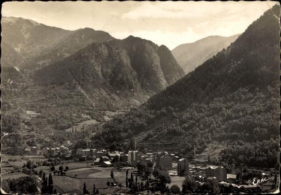 Ak Les Escaldes Engordany Andorra, Station Thermale, vue générale
