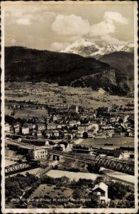 Ak Brigue Brig Glis Kt. Wallis Schweiz, Le Rhone et massif du Simplon, Eisenbahnbrücken