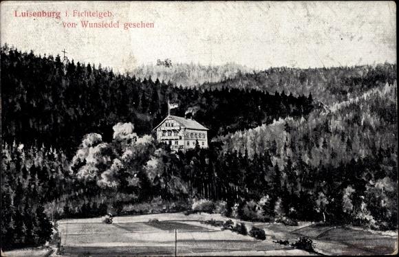 Ak Wunsiedel im Tal der Röslau Oberfranken, Luisenburg im Fichtelgebirge
