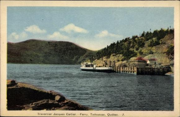 Ak Tadoussac Québec Kanada, Traversier Jacques Cartier, Ferry, Fähre