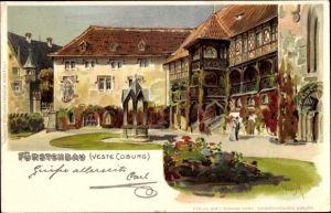 Künstler Litho Wiegk, Coburg in Oberfranken, Fürstenbau der Veste Coburg