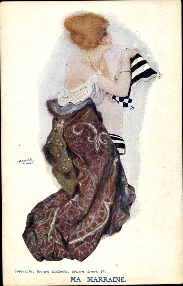 Künstler Ak Kirchner, Raphael, Ma Marraine, Junge Frau