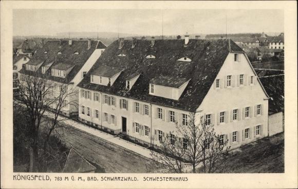 Ak Königsfeld im Schwarzwald Baar Kreis, Blick auf das Schwesternhaus