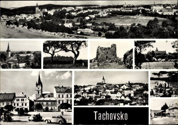 Ak Tachov Tachau Reg. Pilsen, Bor, Krasikov, Primda, Kladruby, Stribo, Borek, Rozvadov