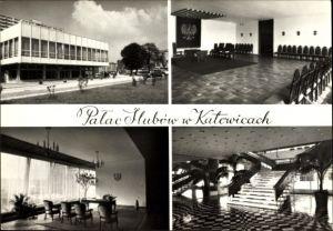 Ak Katowice Kattowitz Schlesien, Palac Slubow, Innenansicht, Saal