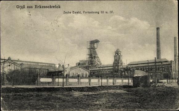 Ak Oer Erkenschwick im Ruhrgebiet, Zeche Ewald, Fortsetzung III. und IV.