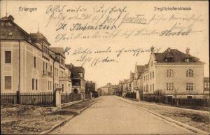 Ak Erlangen in Mittelfranken Bayern, Partie in der Sieglitzhofer Straße