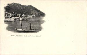 Ak Monaco, Le Yacht du Prince dans le Port, Hirondelle, Prinzenjacht