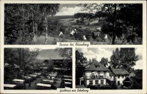 Ak Brunn Nürnberg in Mittelfranken Bayern, Gasthaus zur Erholung, Bes. Leonh. Linhardt