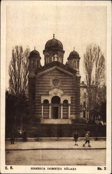 Ak București Bukarest Rumänien, Biserica Domnita Balasa