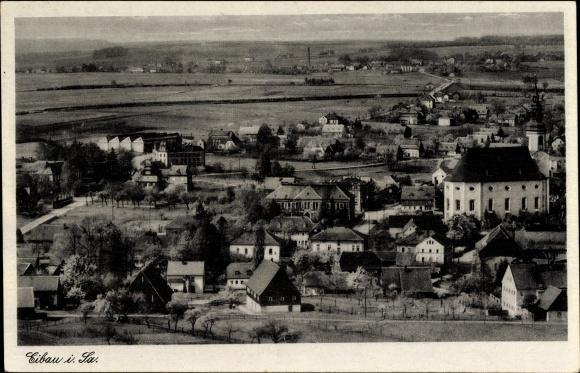 Ak Eibau Kottmar in der Oberlausitz, Blick auf Ortschaft und Umgebung vom Beckenberg
