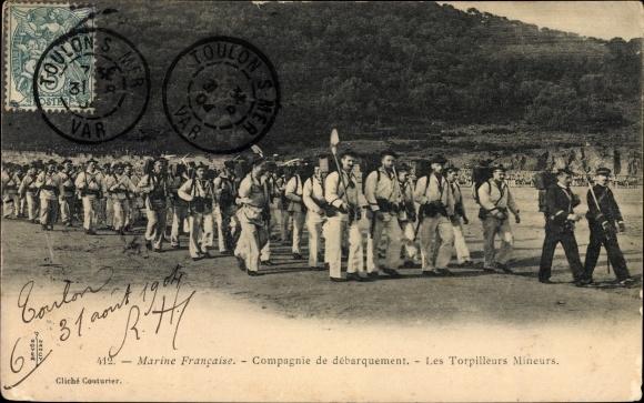 Ak Marine Francaise, Compagnie de débarquement, Les Torpilleurs Mineurs