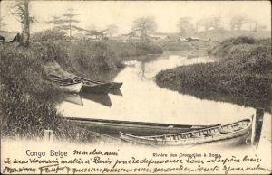 Ak Boma Demokratische Republik Kongo Zaire, Rivière des Crocodiles