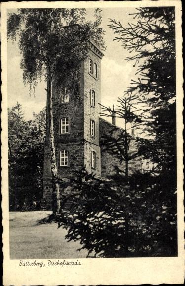 Ak Bischofswerda im Kreis Bautzen, Ansicht vom Berggasthaus Butterberg von Richard Müller