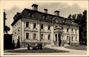 Ak Stülpe Nuthe Urstromtal, Parkpartie mit Blick zum Genesungsheim