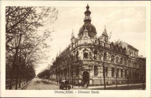 Ak Düren in Nordrhein Westfalen, Blick auf den Haupteingang der Dürener Bank