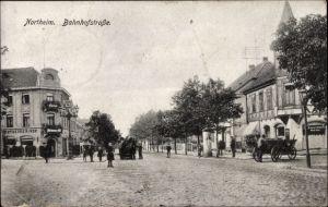 Ak Northeim in Niedersachsen, Partie an der Bahnhofstraße, Hotel Northeimer Hof