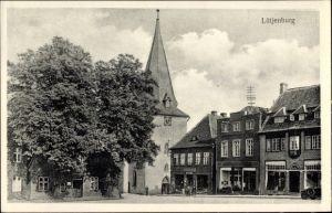 Ak Lütjenburg in Schleswig Holstein, Kirche, Apotheke, Geschäfte