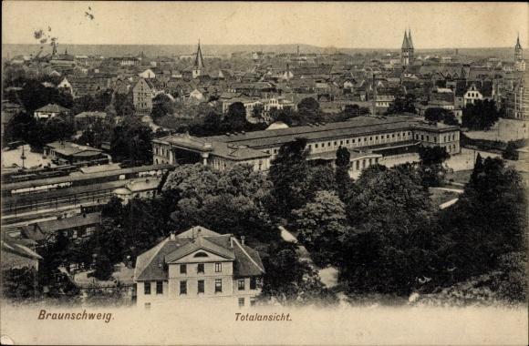 Ak Braunschweig in Niedersachsen, Totalansicht der Stadt 0
