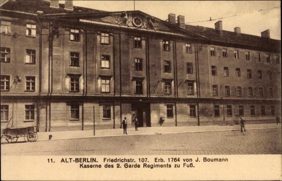 Ak Berlin Mitte, Friedrichstraße 107, Kaserne des 2. Garde Regiments zu Fuß 0